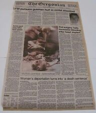 Oregonian Newspaper! November 26, 1984! Front page! Artificial heart headline!