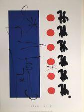MIRO,'ROUGE ET BLEU,1960' RARE 1996 SERIGRAPH ART  PRINT