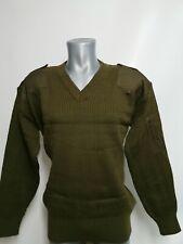 Italienische Army Pullover Military Jumper V Schnitt  Wolle 50%  Gr.L,XL BW NATO