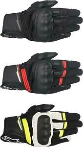 Alpinestars Booster Gloves - Motorcycle Street Bike Riding Leather Touch Screen