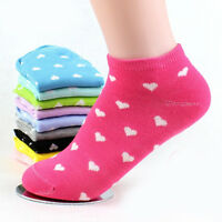 5 Pairs Soft Womens Sports Casual Cute Dot Ankle High Low Cut Cotton Socks