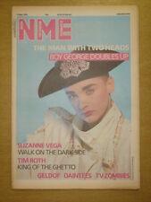 NME 1986 MAY 17 BOY GEORGE SUZANNE VEGA TIM ROTH GELDOF