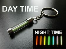 GLOWS NON STOP FOR DECADES!! PINK Tritium CHROME / Keyring / Glow In The Dark