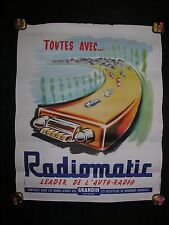 """affiche ancienne """" Radiomatic """""""