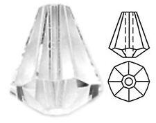 ONE SWAROVSKI CRYSTAL PYRAMID / BELL BEAD 5400, CLEAR CRYSTAL COLOUR, 9 X 8 MM