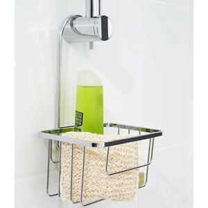 Hanging Shower Caddy Chrome Bathroom Storage Rack Shelf Rail Hook Basket Croydex