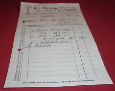 rechnung alt antik jos blessing ravensburg spiegel fensterglas glas  1921 papier