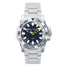 Mens Watch NAUTICA NSR 20 NAD13002G Steel Bracelet Blue White Sub 50mt NEW
