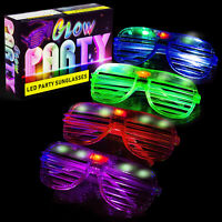 LED Glasses & Kids Party Favors - 12 Neon Glow in The Dark Parties Supplies
