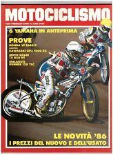 2 1986 MOTOCICLISMO - YAMAHA CROSS 1986 - HONDA VF 1000 R - KAWASAKI GPZ 1000 RX