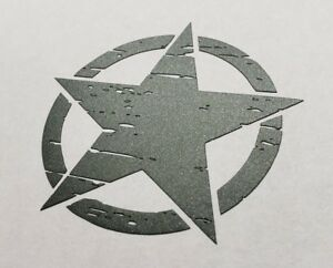 Military Distressed Star decal sticker for jeep army gun stars computer many
