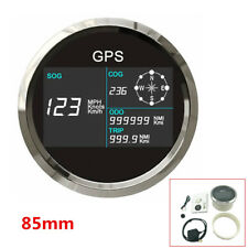 12/24V 85mm GPS Speedometer 0~299 MPH,Knots,Km/h IP67 For Car Motorcycle Boat