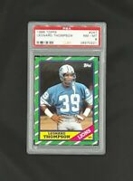 1986 Topps #247 Leonard Thompson Detroit Lions PSA 8 NM-MT
