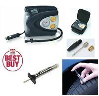 Ring 12v Air Compressor Wheel Tyre Inflator Pump + Case, TYRE DEPTH GAUGE RAC620