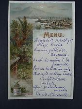 ANCIEN MENU DE RESTAURANT DE LA COMPAGNIE LIEBIG PALERMO PALERME   1895