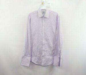 Charles Tyrwhitt Mens 15 33 Extra Slim Fit French Cuff Dress Shirt Purple Stripe