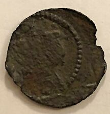 1648 PHILIP IV ARDITE BARCELONA SPANISH COLONIAL COPPER   -   OFF -CENTER STRIKE