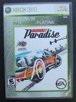 BURNOUT PARADISE PLATINUM HITS XBOX 360 MICROSOFT VIDEO GAME