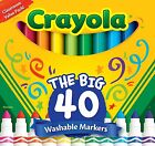 Crayola 58-7858 Ultra-Clean Washable Assorted Broad Line Markers 40 Count New