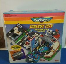RARE 1993 MICRO MACHINES SUPER CITY TOOLBOX PLAYSET GALOOB NEW IN BOX