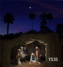 Vinyl Studio Backdrop 5X7FT Photography Photo Background Night Nativity of Jesus