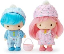 Sanrio Little Twin Stars Kiki Lala Pretend Play Soft PVC Doll Set Quilt Japan