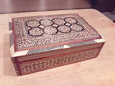 Trinket Box with Mother of Pearl Marquetry