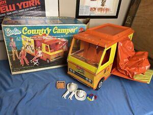 Vintage 1970s Mattel Barbie Country camper van Box accessories doll toy camping