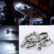 11x Error Free Full LED Interior Kit SMD White For Toyota Avensis T25 2003-2008