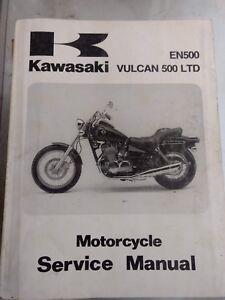 Kawasaki EN500 Vulcan 500 LTD USED Service Manual 99924-1194-01
