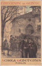 * SWITZERLAND - Genève - Université, Schola Genevensis 1912