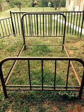 BEAUTIFUL PATINA ON OLD METAL FULL Size Headboard/Footboard and Side frame