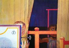 Leonardo Cremonini Estampe quadri contre apartheid signée art moderne art