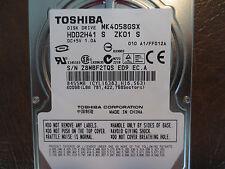 "Toshiba MK4058GSX (HDD2H41 S ZK01 S) 010 A1/FF012A 400gb 2.5"" Sata HDD"