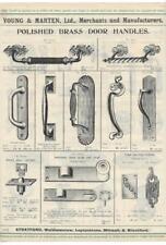 Vintage Architectural Advert 'Young and Marten Stratford'Brass Door Handles Etc.