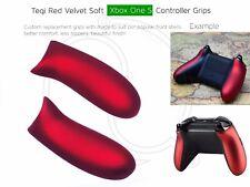 Velours Rouge Xbox One S custom Controller Super Soft Grip Poignées Arrière Poignées/panneau