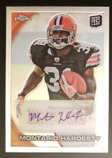 2010 Topps Chrome, Montario Hardesty, Cleveland Browns, RC Rookie Auto Autograph
