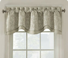Elite Salisbury Embroidered Window Valance In Flax. Curtain Decor - NEW