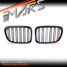 Gloss Black M4 Stripe Style Bumper bar Kidney Grille Grill for BMW X1 E84 09-14