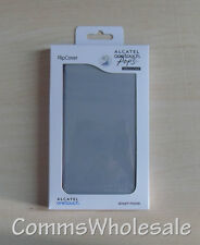 Genuine Alcatel One Touch Pop 3 FC5065 Soft Silver Flip Case / Cover - NEW