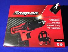 "Snap On 14.4v 3/8"" Cordless LITHIUM Drill Set with 2 x Batteries CDREU761A NEW"