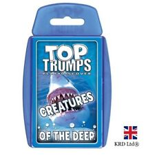 TOP TRUMPS CREATURES OF THE DEEP CARD GAME Family Kids Fun Christmas Gift UK