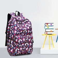 Ladies Backpack Unicorn Print School Canvas Shoulder Bag Girls Cute Bag