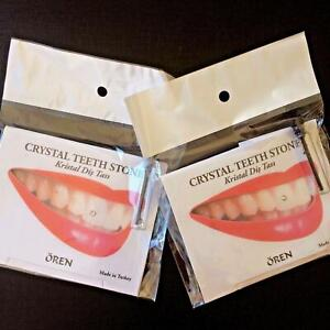 Tooth Gem Kits Genuine Crystals With Adhesive 5 Sparkle Stones In a Pack