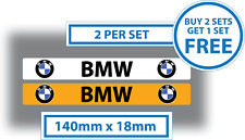BMW Number Plate Cover Stickers Car Dealer Sales 140mm x 18mm Vinyl Waterproof