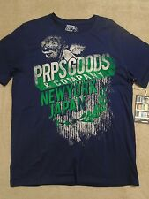 PRPS GOODS & CO. NAVY Mens ( L ) Large JAPAN NY T - Shirt $78+100% Cotton