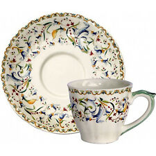 TOSCANA by Gien Cup & Saucer American Size NEW NEVER USED French Bone China