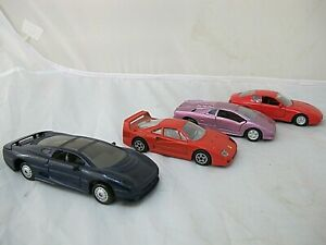 1/32-1/40 scale LOT OF 4 DIECAST CARS~EXOTIC CARS. ~FOR  TRAIN LAYOUTS ECT
