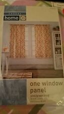 New Target Casual Home Window Panel 54x63 pink/green plaid 100% cotton
