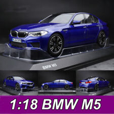 ORIGINAL 1:18 Scale BMW M5 Blue Car Model Collection NEW IN BOX